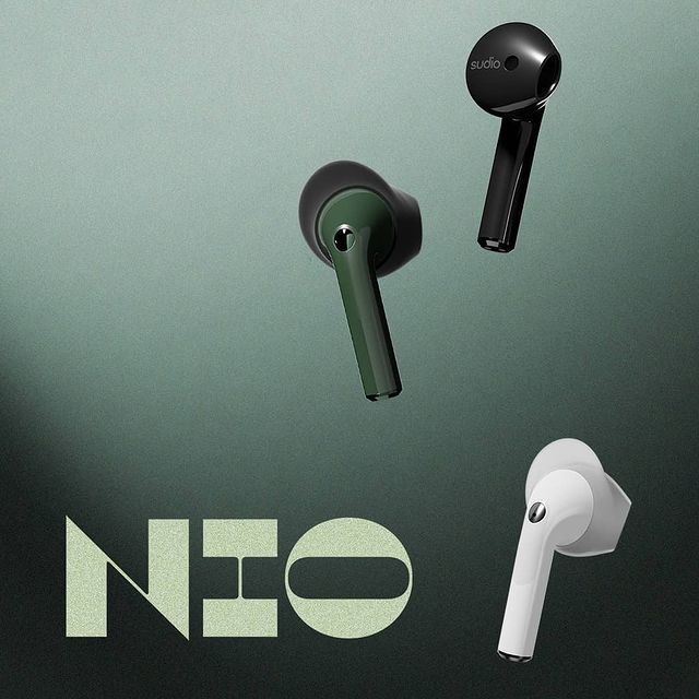 We are so excited to share the release of our newest true wireless model called Nio with you! Nio includes IPX4 rated water protection, adaptive dual-microphone technology for clearer calls, and 4 sizes of interchangeable wing tips that allow you to find your perfect fit. Which color of Nio is your favorite? #sudio #sudiomoments #shapingsound #nio-white #nio-green #nio-black